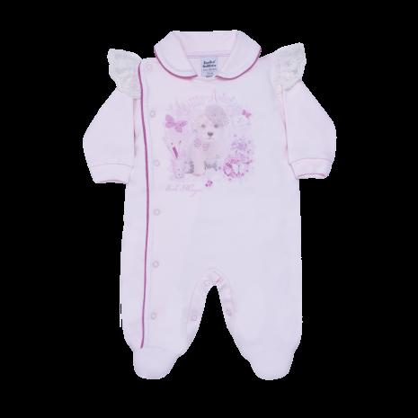Macacão para bebê menina Little Artíst manga longa