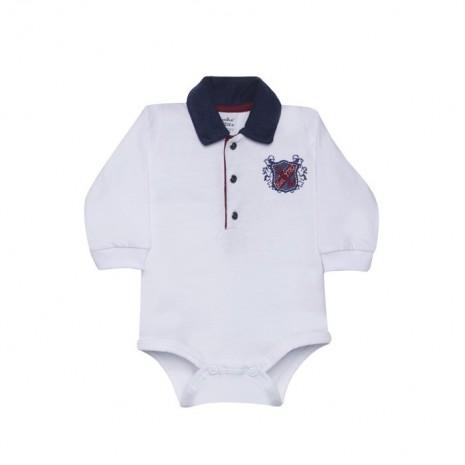 Body para bebê menino malha thor manga longa