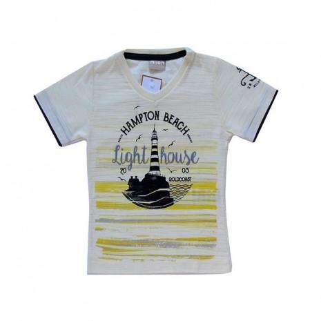 Camiseta infantil menino com estampa de farol