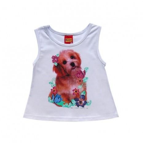 Regata infantil menina cãozinho carinho