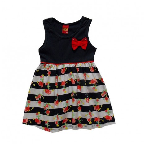 Vestido infantil menina laço com strass