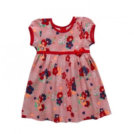 Vestido infantil menina com estampa floral