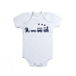 Body para bebê menino com estampa Maria Fumaça