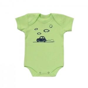 Body para bebê menino com estampa de fusquinha
