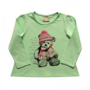 Blusa infantil menina  manga longa em Cotton