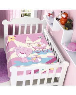 Cobertor Raschel Infantil Menina Sonho de Mamãe Jolitex