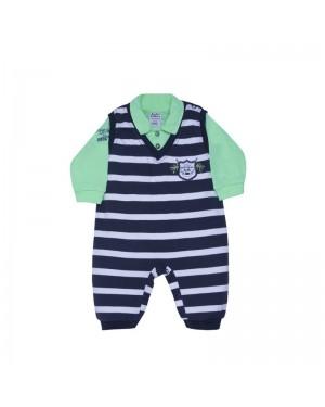 Macacão para bebê menino estilo jardineira manga curta