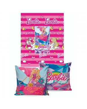 Manta Almofada Disney Jolitex Barbie