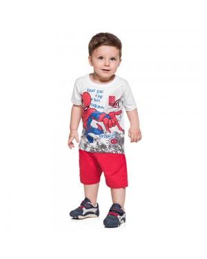 Conjunto infantil menino camiseta e bermuda Brandili
