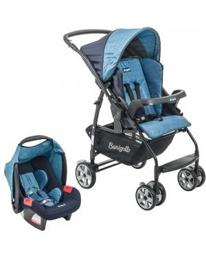 Carrinho de bebê Burigotto Rio K 4016PR55 + Touring Evolution SE azul
