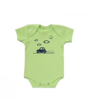 Body para bebê menino com estampa personalizada de fusquinha