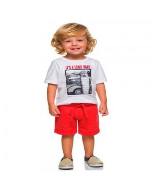 conjunto infantil menino manga curta estampa surf milon