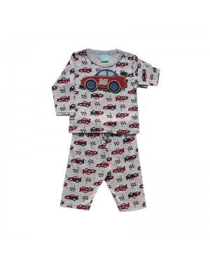 Pijama infantil menino manga longa Carrinhos