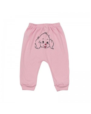 Mijão para bebê menina sem pé com estampa de cachorrinha