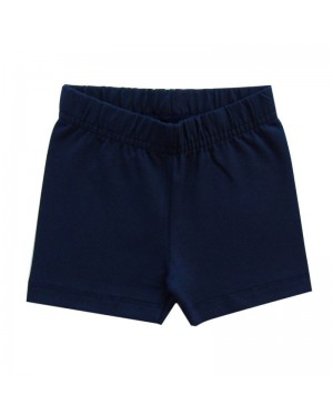 short infantil menina em Cotton azul marinho kyly
