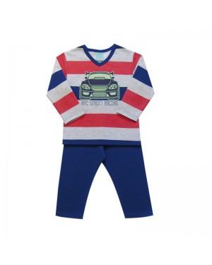 Pijama infantil menino manga longa em Moletom.