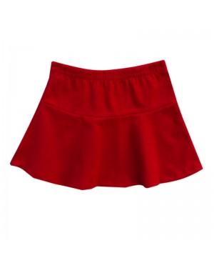 saia infantil menina em cotton vermelho kyly
