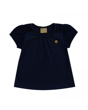 blusa infantil menina em cotton e laíse milon