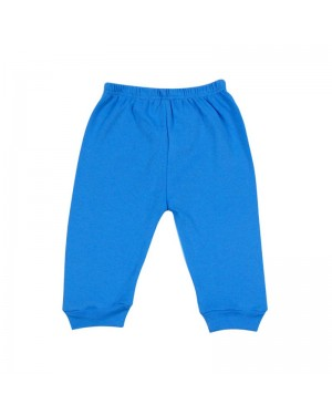 Mijão para bebê menino sem pé liso na cor azul