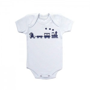 Body para bebê menino com estampa personalizada Maria Fumaça