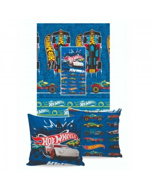 Manta Almofada Disney Jolitex Hot Wheels