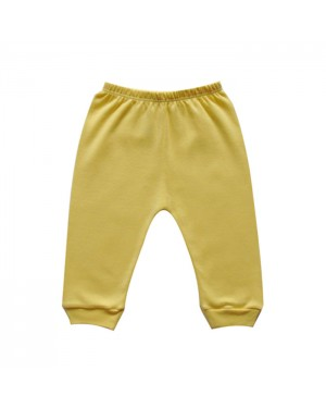 Mijão para bebê menino sem pé liso na cor amarelo