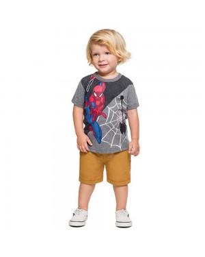 Camiseta Infantil Menino Liga da Justiça Brandili Homem-Aranha