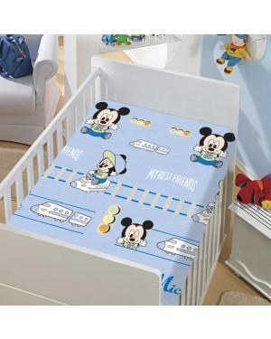 Manta Infantil Menino Soft Disney Mickey e Trenzinho Jolitex
