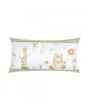 Almofada infantil com enchimento Lynel Baby Zoo 30cmx50cm