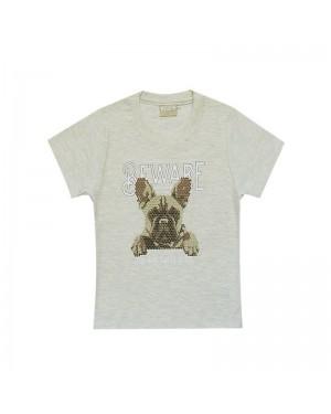 Camiseta infantil menino com estampa personalizada Cachorro