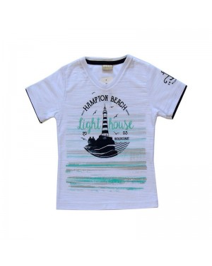 Camiseta infantil menino com estampa personalizada farol