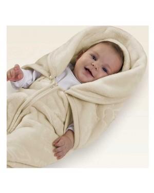 Cobertor menino Baby Sac com relevo Jolitex 80cm x 90cm