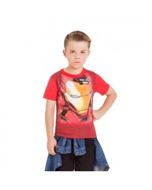 Camiseta Infantil Menino Homem de Ferro Brandili