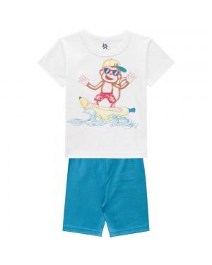 Pijama Infantil Menino Camiseta E Bermuda Cheirinho De Infância