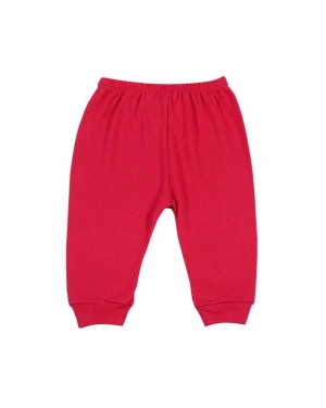 Mijão para bebê menina sem pé liso na cor vermelha
