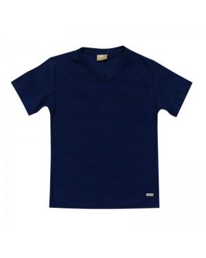 camiseta infantil menino flamê azul milon